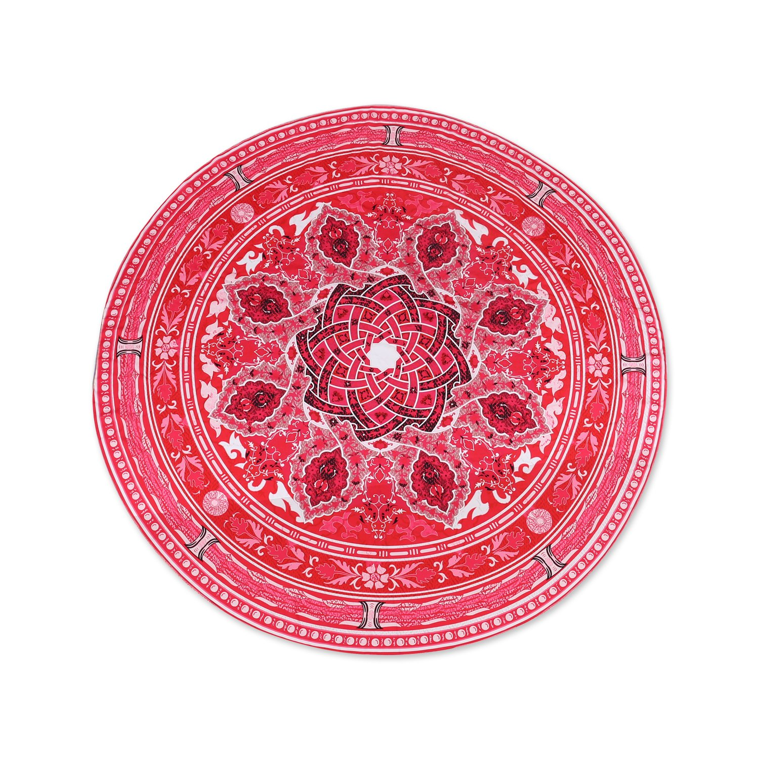 Round beach towel/round tapestry/round yoga mate, Bath Hiking Camping Picnic Home Window Round Hippie Beach Throw blanket by Sixco(red)