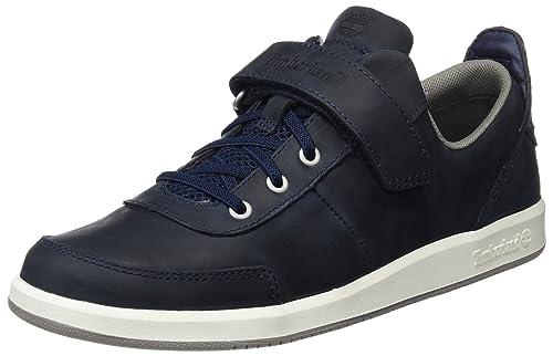 Timberland CA1ISK, Zapatillas con Velcro Infantil, Azul (Black Iris Saddleback Full Grain), 39 EU: Amazon.es: Zapatos y complementos