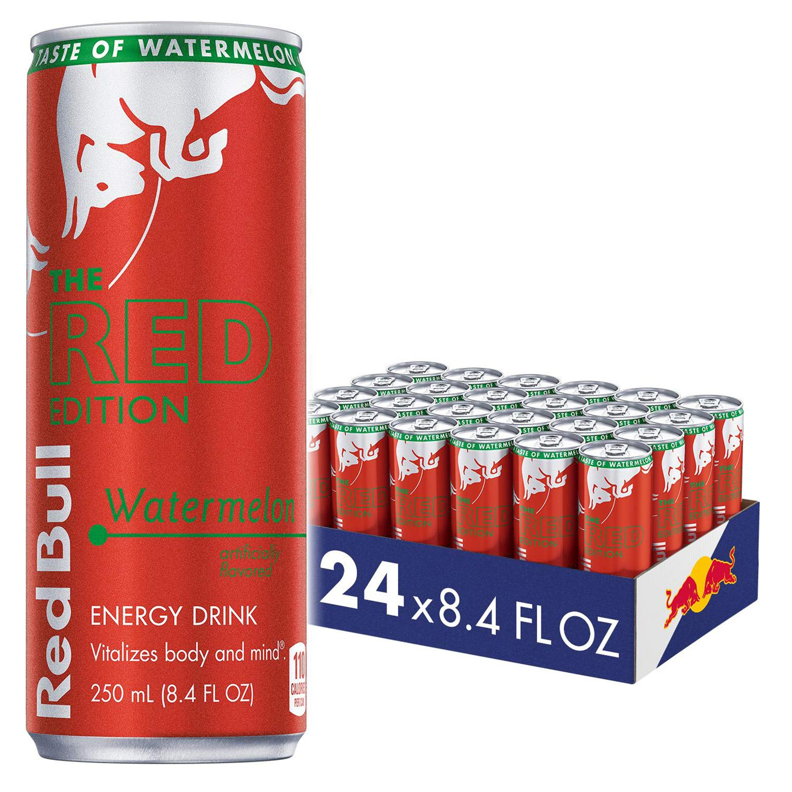 Red Bull Energy Drink, Watermelon, 8.4 fl oz (24Count), Red Edition