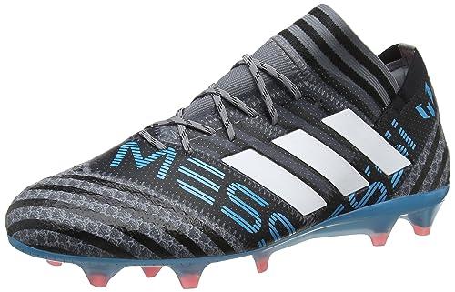Adidas Nemeziz Messi 17.3 FG, Botas de Fútbol para Hombre, Negro (Negbas/Rojsol/Ormetr 000), 43 1/3 EU adidas