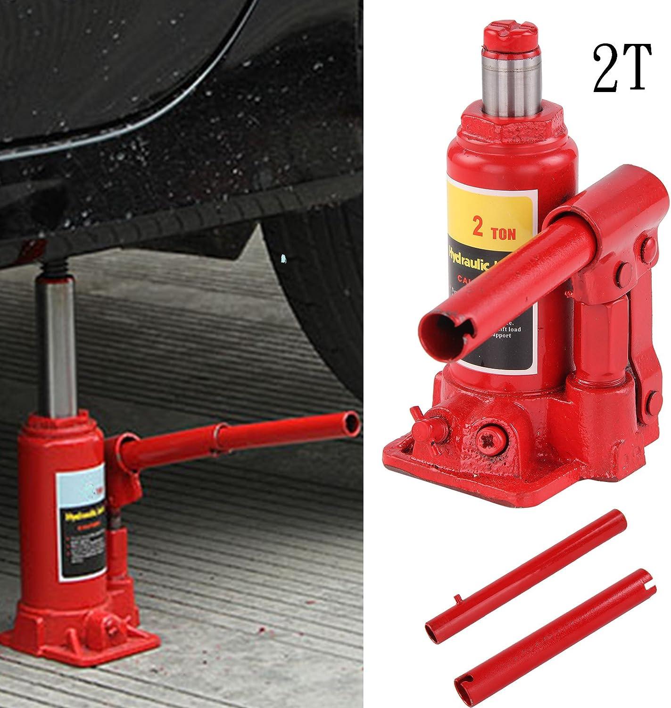 AllRight Cric Hydraulique Bouteille Jack R/ésistant 2 Tonnes Rouge de Voiture Ram Levage