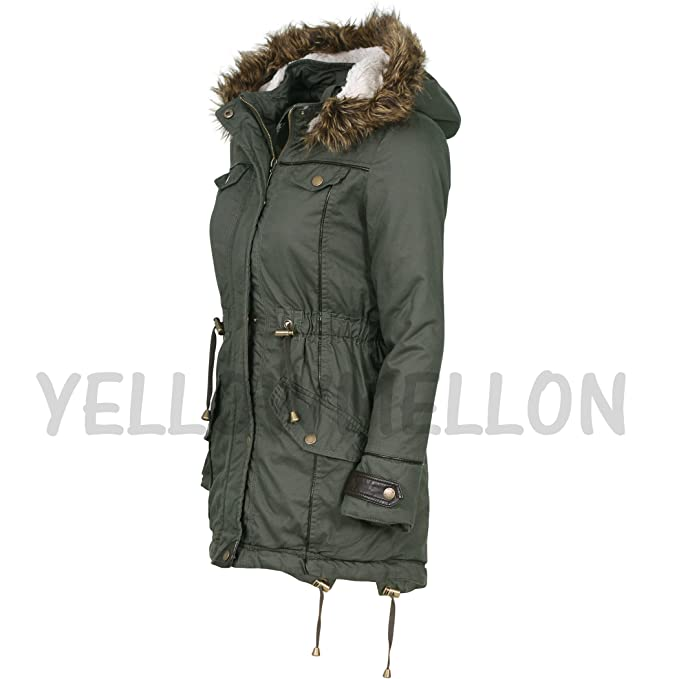 066ff8945e8b Minx Original Premium Quality Girls Parka Jacket Faux Fur Trim Hood ...