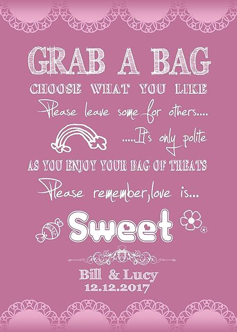 Amazon.com: Personalizado pizarrón Love Is Sweet Candy Bar ...