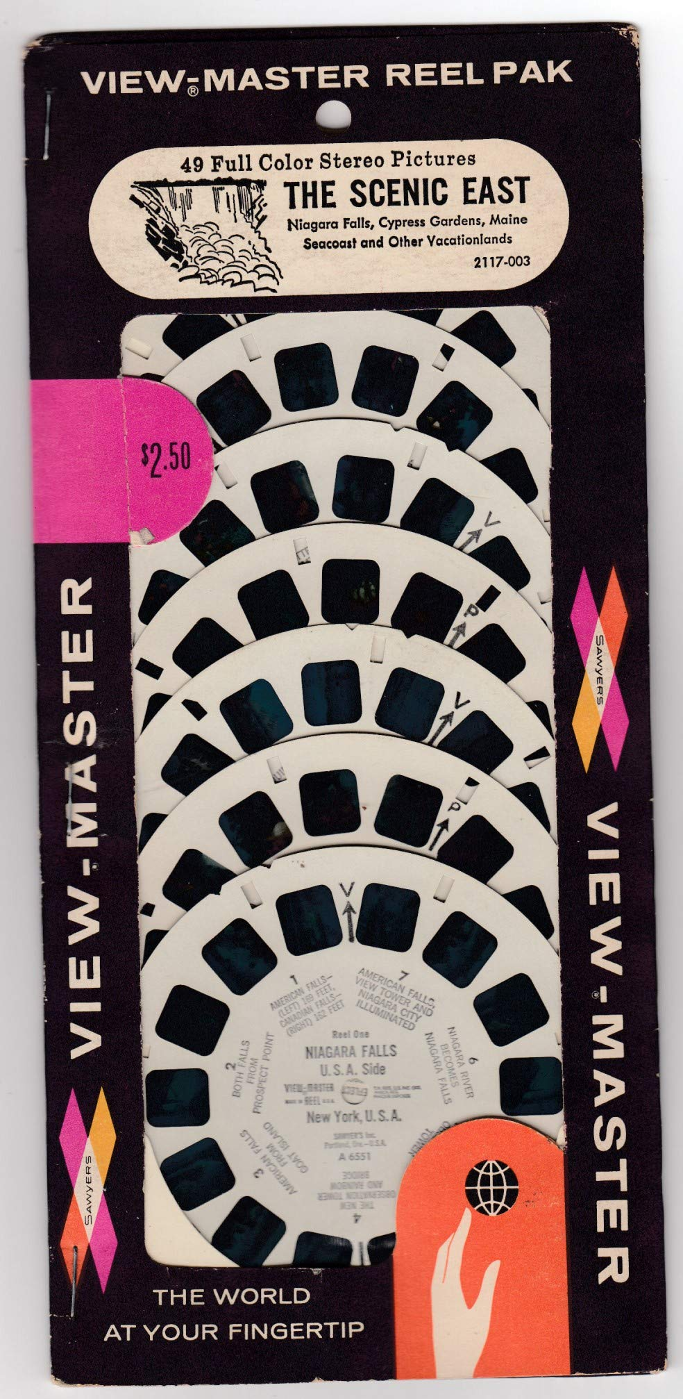 View Master SAWYER'S Reel PAK The Scenic East Unopened 7 REELS Including Niagara Falls, Cypress Gardens, Maine SEACOST Vacationlands by View Master (Image #2)