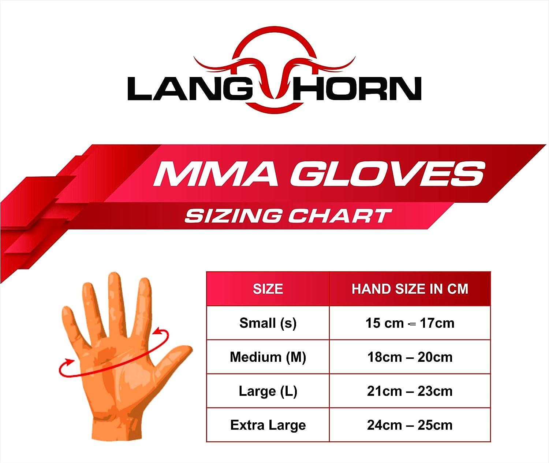 Muay Thai Horn Lang Entrenamiento Piel Maya Hide PU Kickboxing Saco de Boxeo Guantes de Boxeo para Artes Marciales Mixtas Lucha en Jaula
