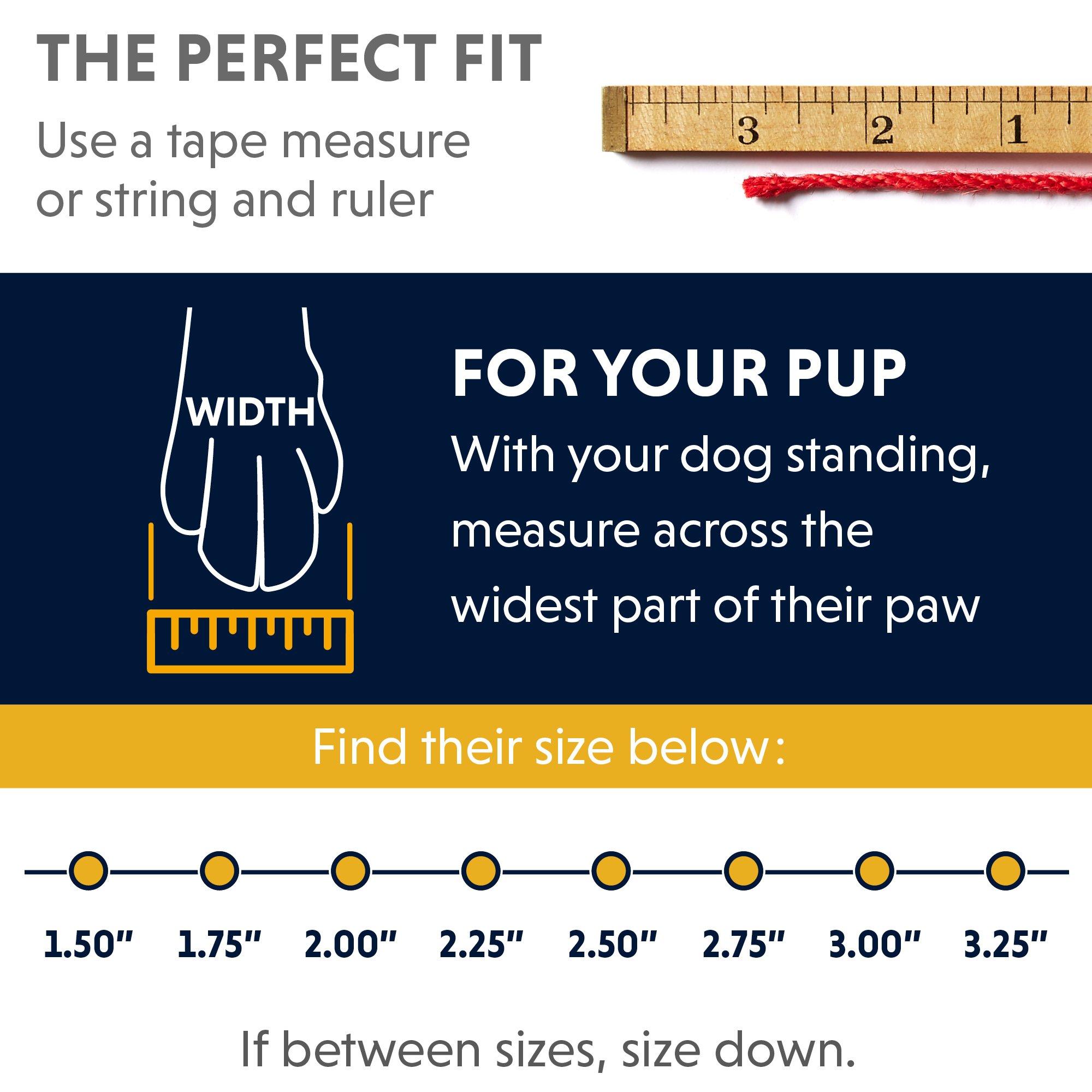 RUFFWEAR 15202-001300 - Grip Trex, All-Terrain Paw Wear for Dogs, Obsidian Black, 3.0 in (Set of 4) by RUFFWEAR (Image #4)