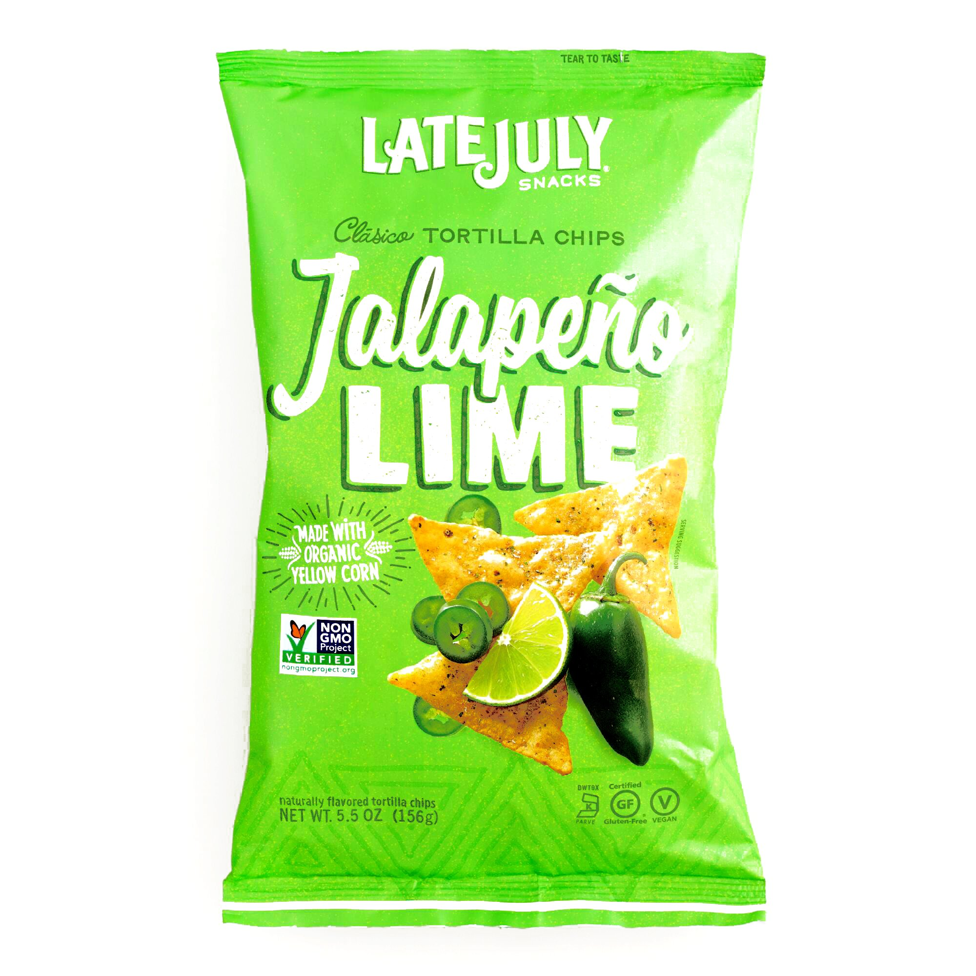 Late July Jalapeno Lime Tortilla Chips 5.5 oz each (1 Item Per Order)