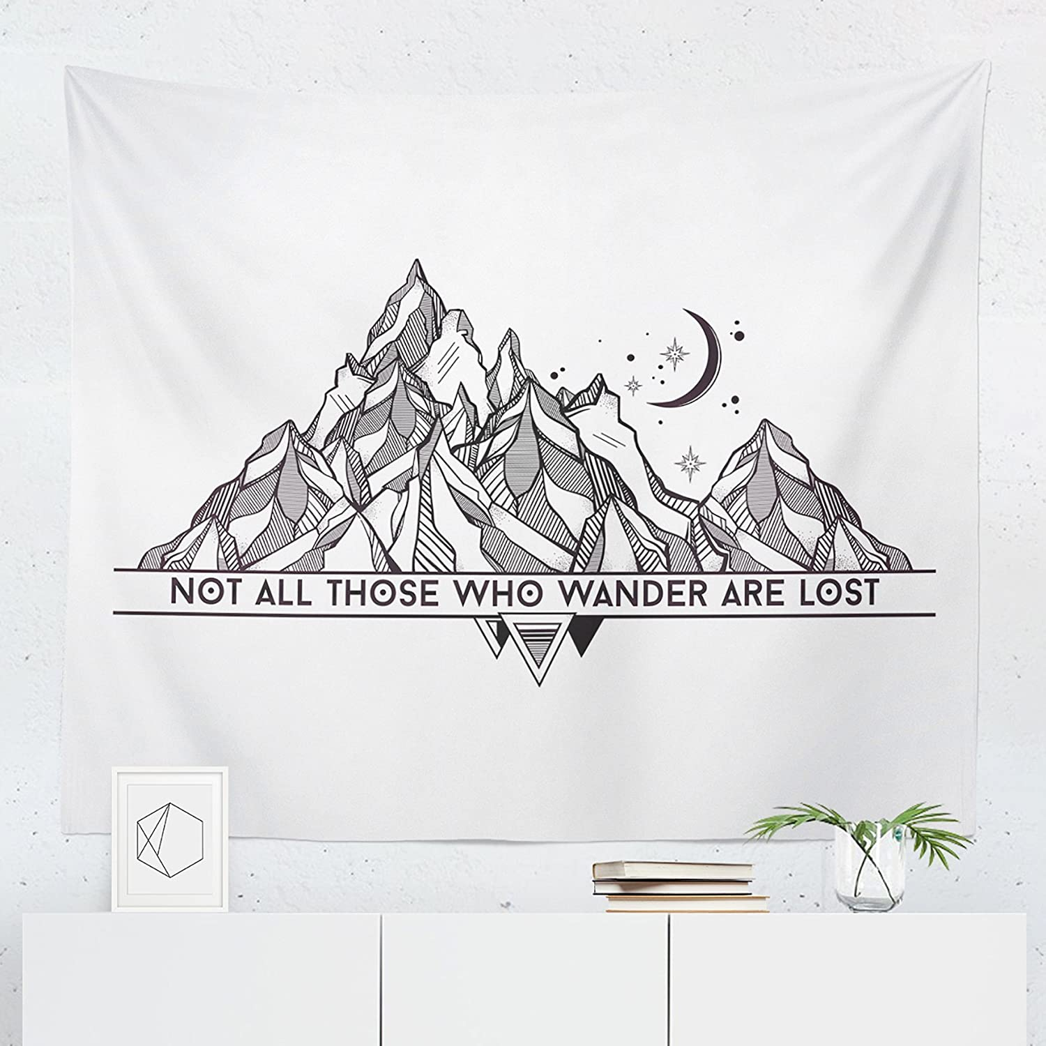 Wanderlust Tapestry - Adventure Travel Nature Wall Tapestries Hanging Décor Bedroom Dorm College Living Room Home Art Print Decoration Decorative - Printed in the USA - Small Medium Large Sizes