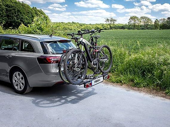 Eufab 12010LAS Raven - Portabicicletas plegable para 2 bicicletas ...