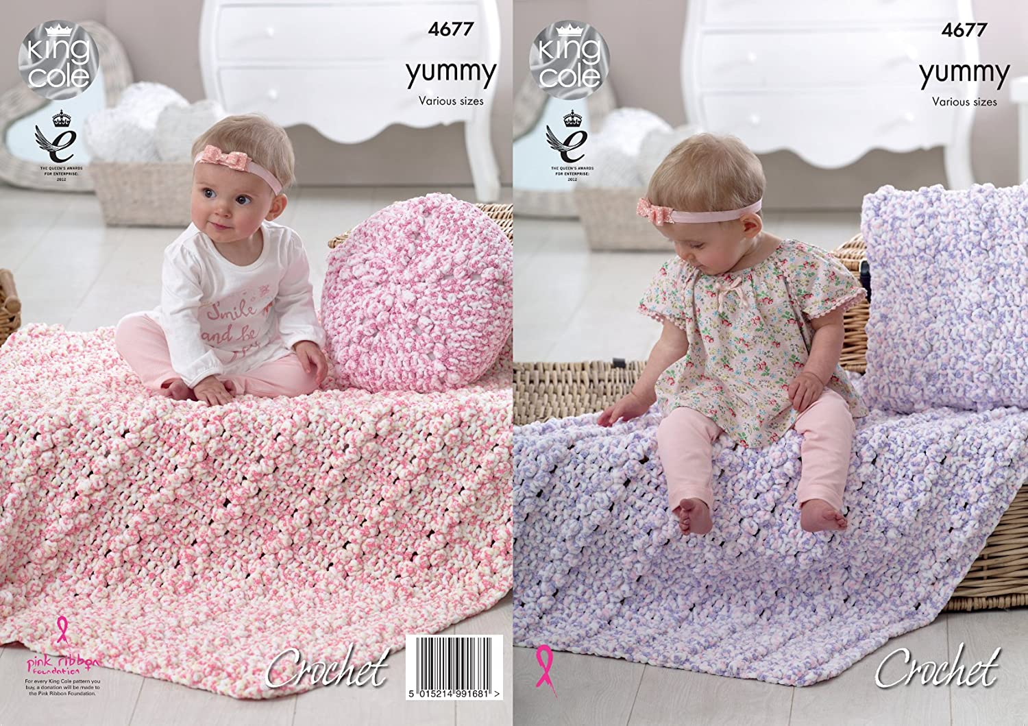 King Cole 4677 Crochet Pattern Baby Blankets and Cushions in ...