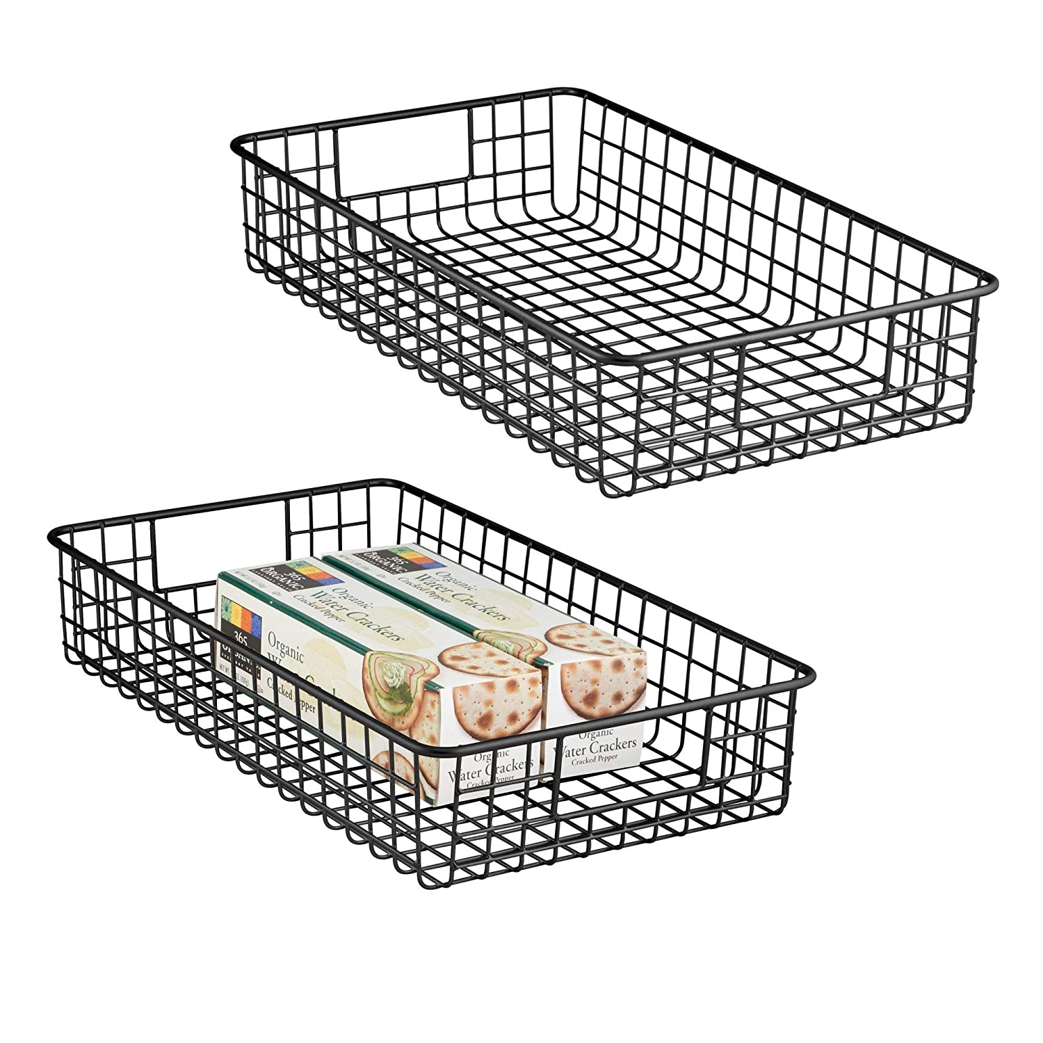 amazon mdesign household metal wire cabinet anizer storage Wire Storage Bins mdesign household metal wire cabinet anizer storage anizer bins baskets trays for kitchen pantry pantry fridge closets garage laundry bathroom