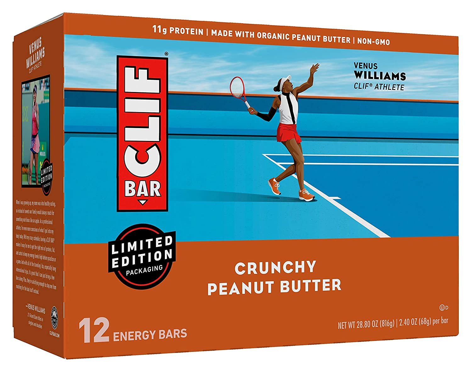 Clif, Bar Builders Crunchy Peanut Butter, 2.4 Ounce, 12 Pack