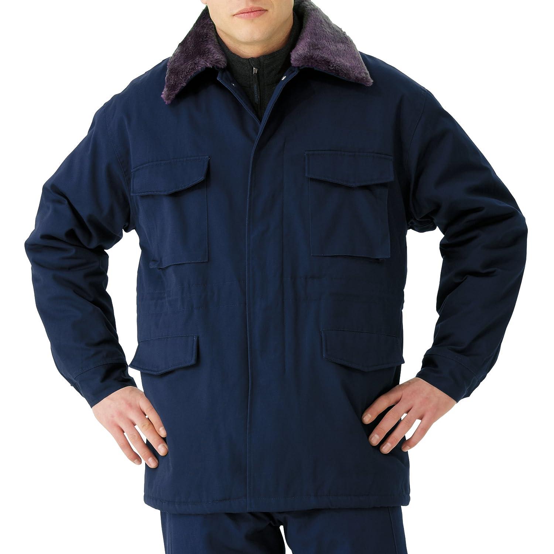 ミドリ安全 【衿ボア取り外し可】 《撥水加工》 メンズ 綿100% 防寒カストロコート M7500