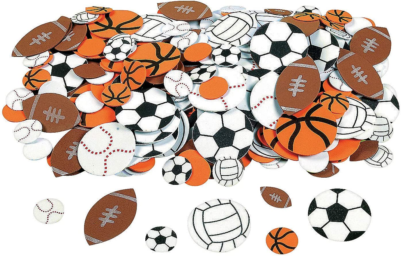 Foam Sports Stickers for Kids - Adhesive Foam Sticker Pack - 500 Piece Sports Ball Foam Shapes - Crafts for Kids and Fun Home Activities