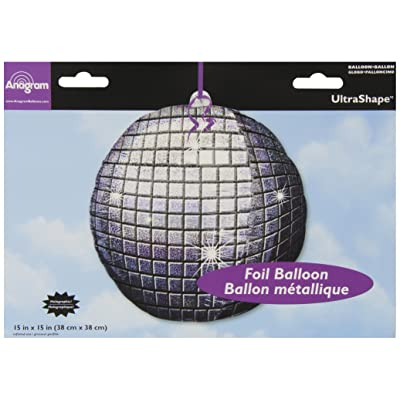 Anagram Disco Ball Foil Balloon: Toys & Games