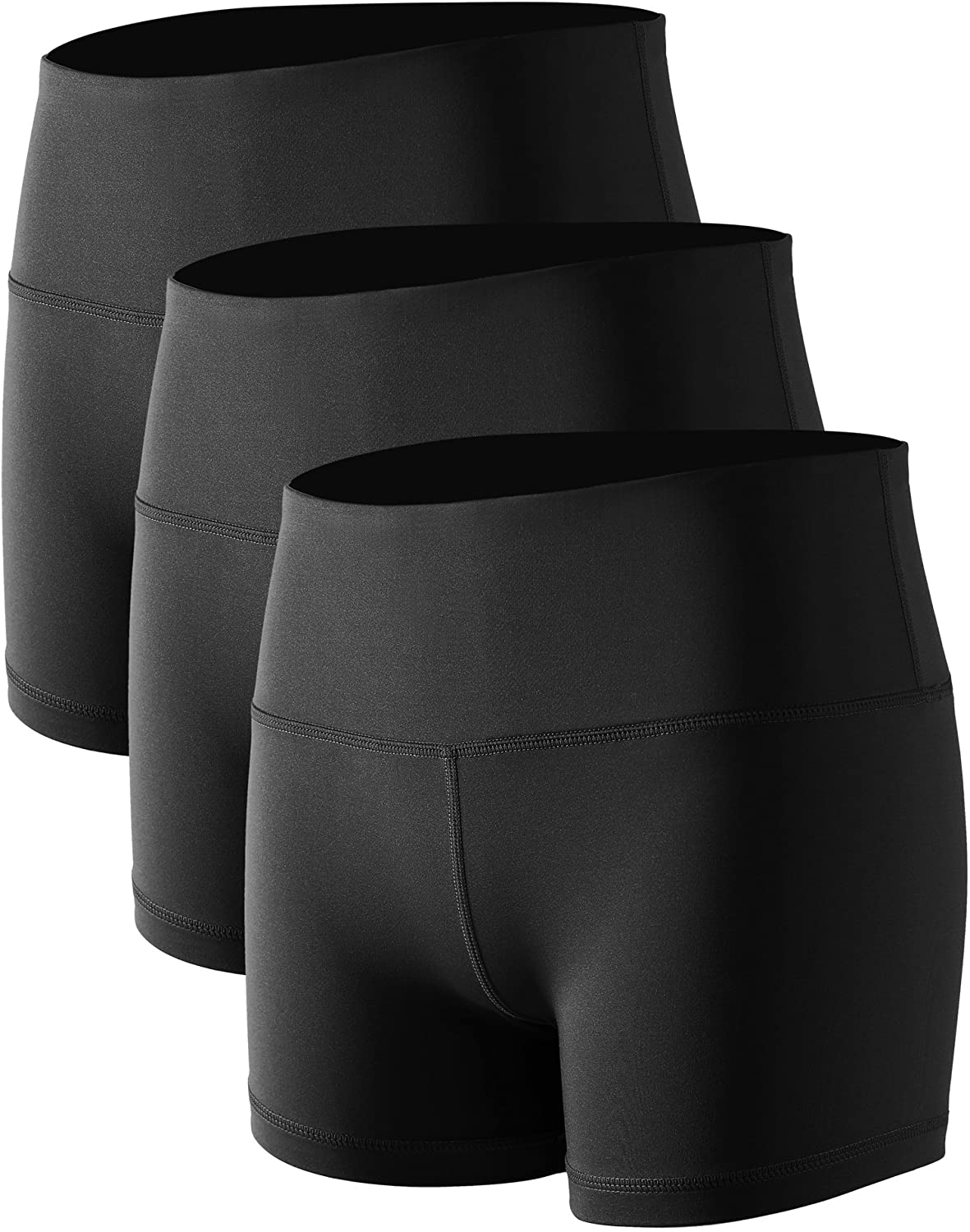 Cadmus Women's High Waist Stretch Athletic Workout Shorts with Pocket: Clothing