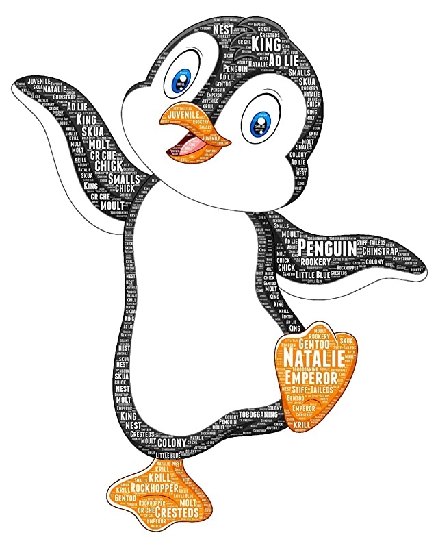 Penguin wall art - Personalized Penguin Gifts - Decor Ideas - Baby Shower…
