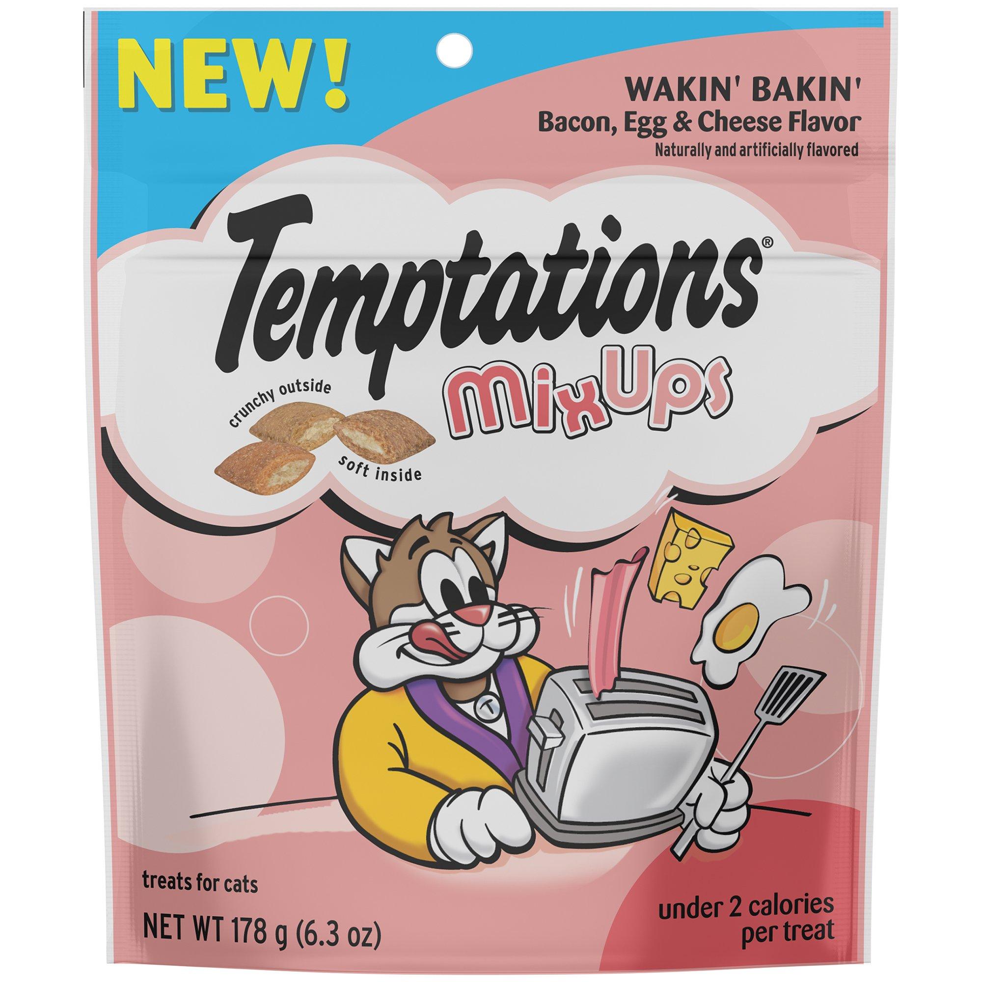 TEMPTATIONS Mega MixUps Treats for Cats Wakin' Bakin' Flavor 6.3 Ounces (Pack of 10)