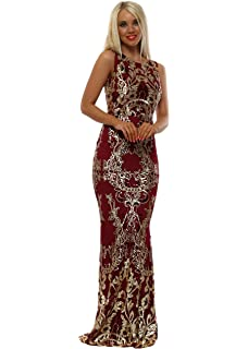 ddaeda06d0 Goddess London Stephanie Pratt Starburst Gold Sequin Maxi Dress ...