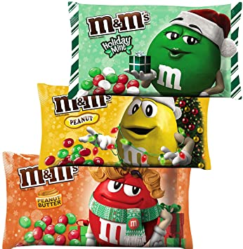 Christmas Candies.M M Solid Milk Chocolate Christmas Candy Peanut Peanut Butter Holiday Mint 9 9 11 4 Oz