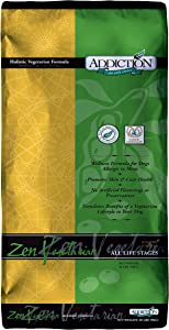 Addiction Pet Foods Zen Vegetarian Dry Dog Food, Made from New Zealand, for All Dog Life Stages - 20lbs, Natural