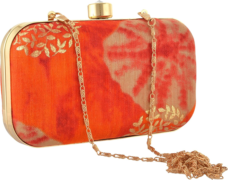 Sanskriti Women Bridal Fancy Party Hand Box Clutch Purse Diwali//Christmas Gift