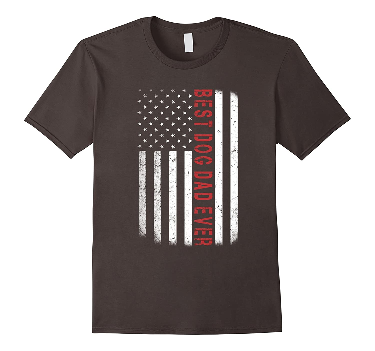 American Red Best Dog Dad Ever Flag Shirt Father's Day Gift-Art
