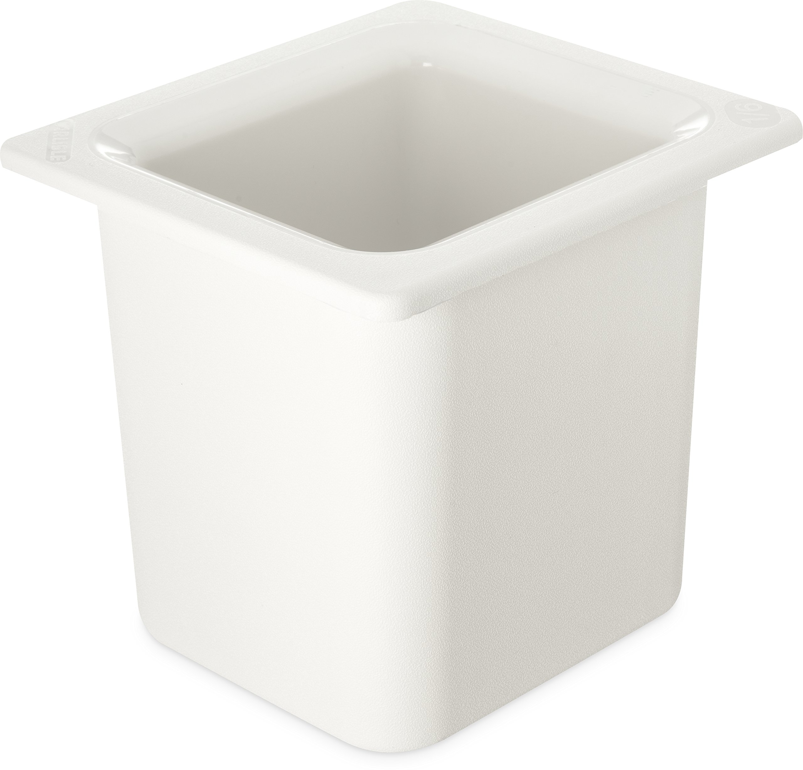 Carlisle CM110502 Coldmaster 6'' Deep Sixth-Size High Capacity Insulated Cold Food Pan, 1.7 Quart, White