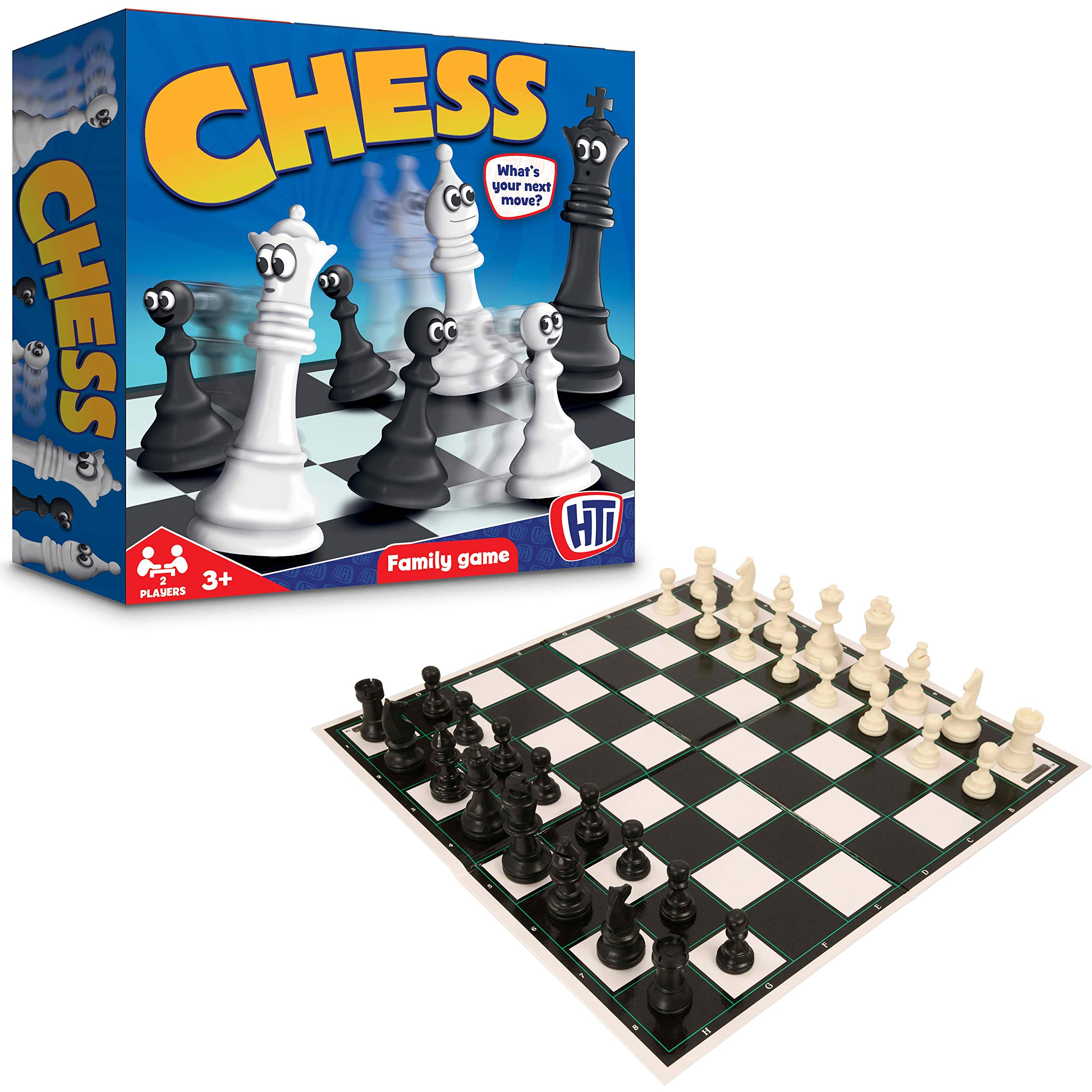 HTI Toys Traditional Games Chess Set Board Game For Kids Adults