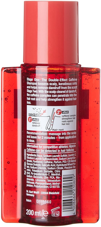 Alpecin - Champú de doble efecto contra la caspa y la caída de cabello, 200 ml: Amazon.es: Salud y cuidado personal