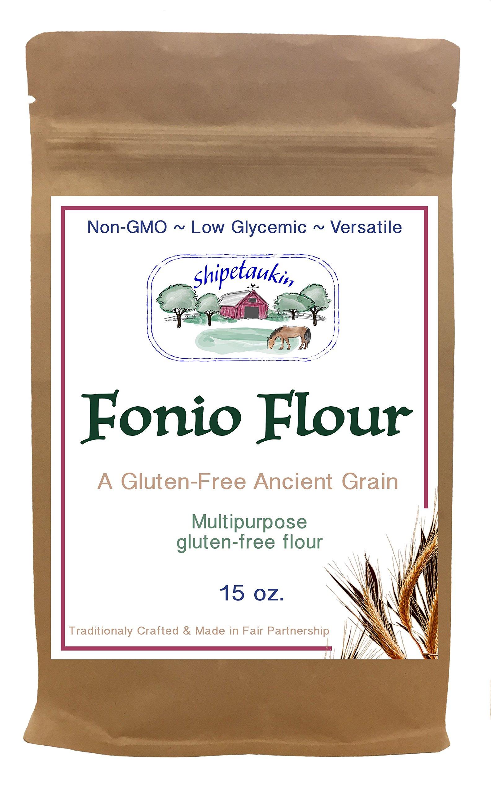 Shipetaukin Gluten Free Fonio Multipurpose Flour, 15 Ounces