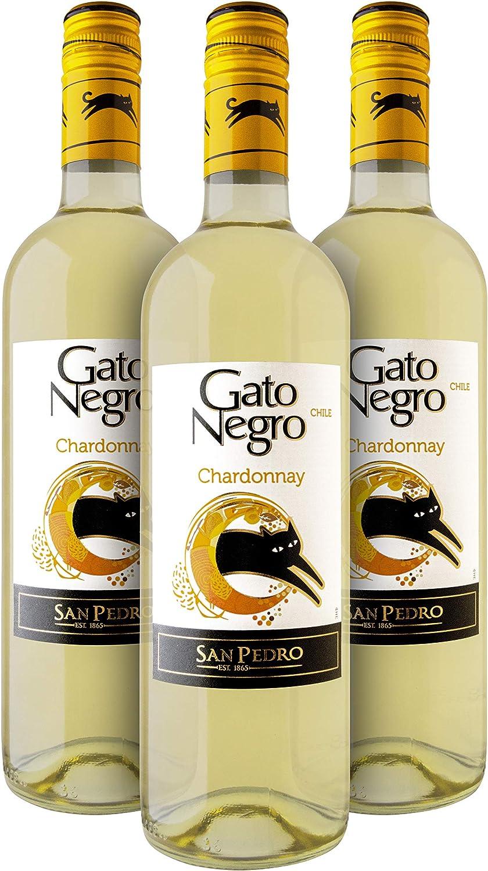 Gato Negro Chardonnay Vino Blanco - Chile - Pack de 3 Bot. 75 cl: Amazon.es: Alimentación y bebidas
