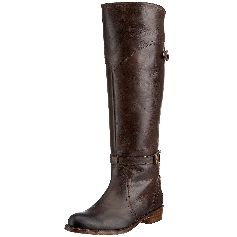 Amazon.com | FRYE Women's Dorado Buckle Riding Boot | Knee-High