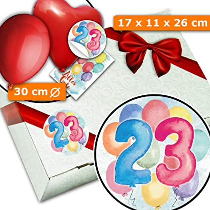 23. Caja de regalo de cumpleaños, 23 años: Amazon.es ...