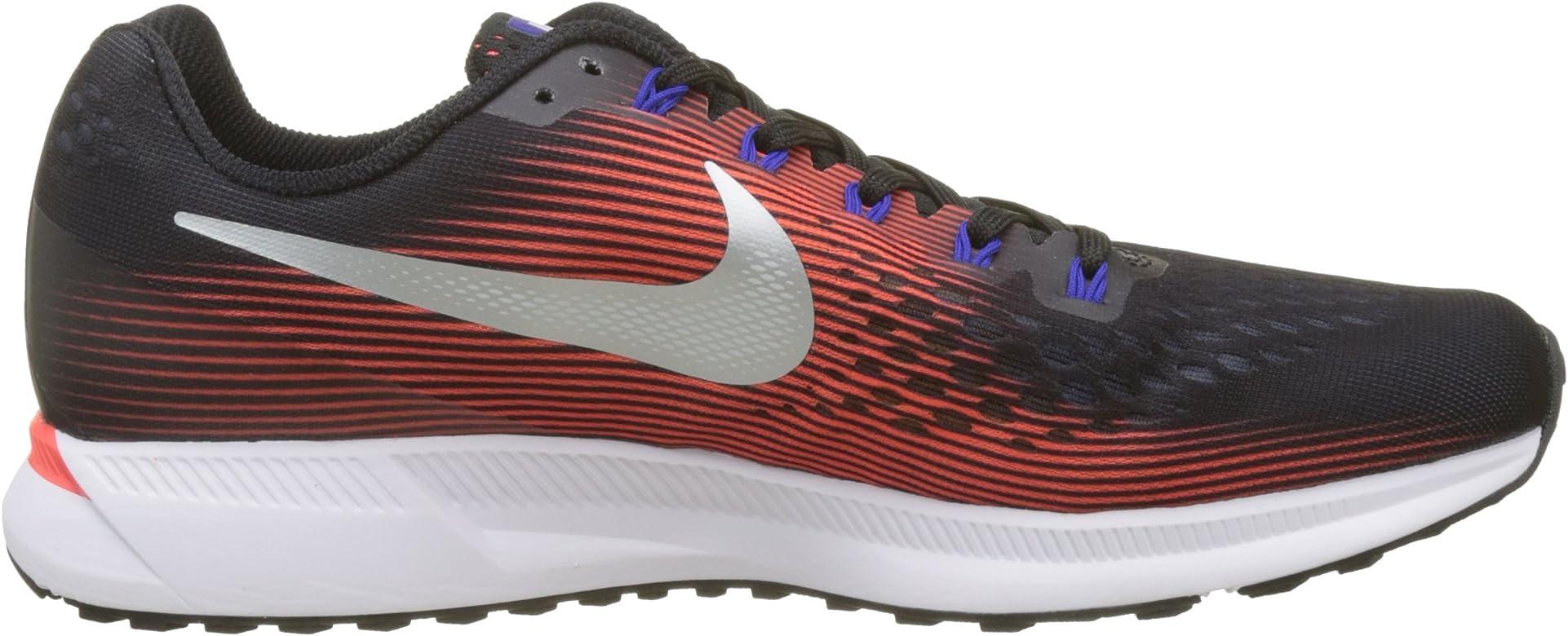 Nike Air Zoom Pegasus 34, Zapatillas de Running para Hombre, Negro (Black/Mtlc Silver/BRT Crimson/006), 42 EU: Amazon.es: Zapatos y complementos