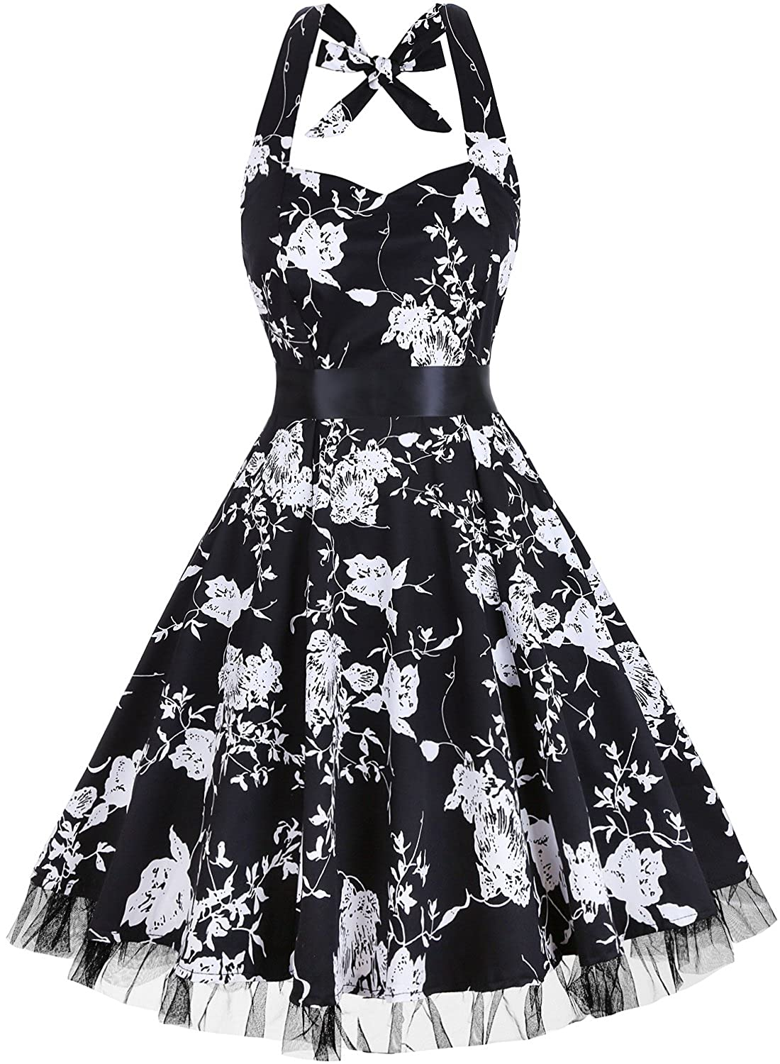 Dressystar Vintage Polka Dot Retro Cocktail Prom Dresses 50\'s 60\'s ...