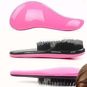 Démêlant 2 pièces Tangle Master brosses à cheveux couleur blanche ou rose, brosse démêlante pour une chevelure parfaite, Couleur Rose