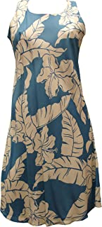 product image for Paradise Found Womens Hibiscus Pareau Short Tank Dress Blue XS
