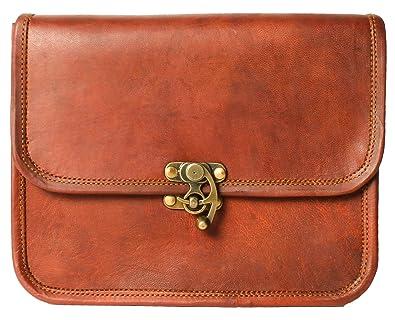 1c1c5ede995 Handmade Women Vintage Style Genuine Brown Leather Cross Body Shoulder Bag  Handmade Purse   Cute Little