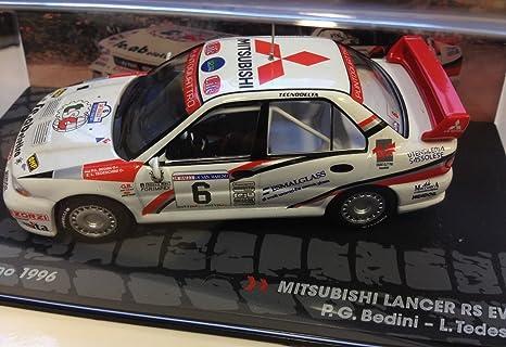 Générique Mitsubishi Lancer RS EVO III- Rally San Marino 1996 - BEDINI - IXO 1