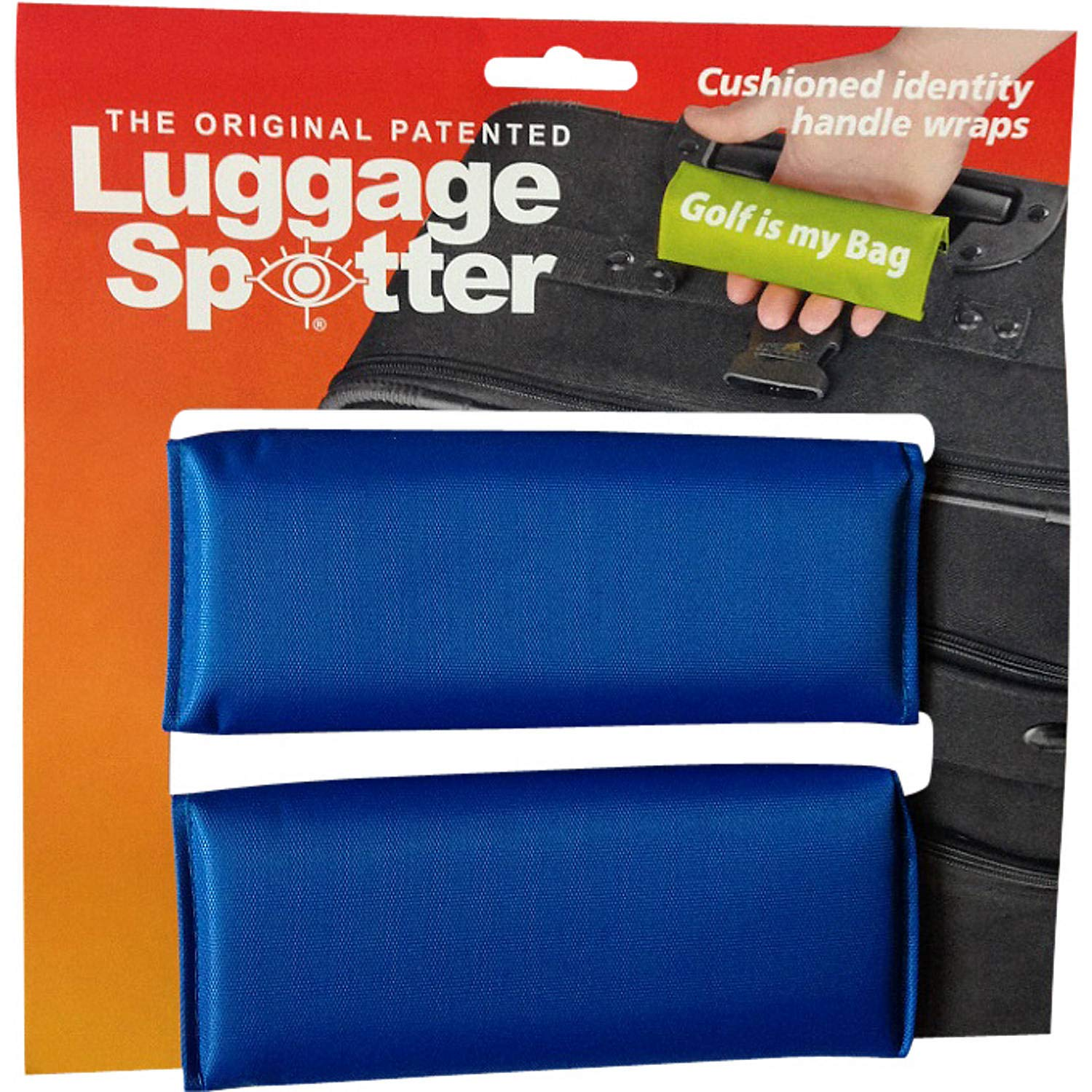 Luggage Spotter Blue Luggage Locator/Handle Grip/Luggage Grip/Travel Bag Tag/Luggage Handle Wrap (2 Pack) by Luggage Spotter