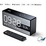 Pagaria 10W Portable V4.2 Bluetooth Speaker with Dual Alarm Clock, TF, Remote, Feather Touch Control, 360' Surround Sound Model :X9 Dido