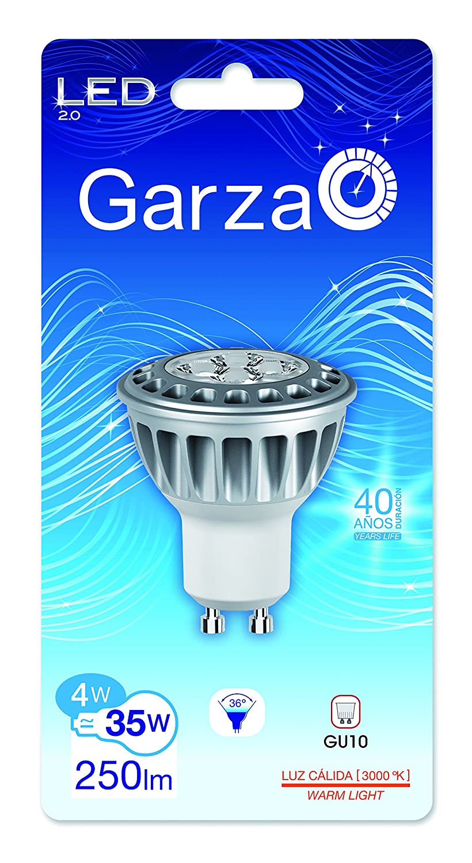 Garza 400759 - Bombilla LED estándar, 4 W, equivalente a 35 W en incandescencia, 25000 horas, 250 lúmenes: Amazon.es: Iluminación
