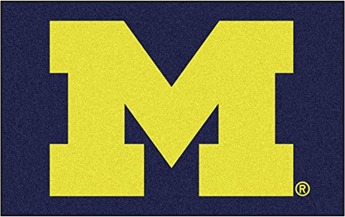 FANMATS NCAA University of Michigan Wolverines Nylon Face Ultimat Rug