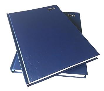 Agenda 2019 A4 azul día por página {+Diario 2018 gratis) por ...