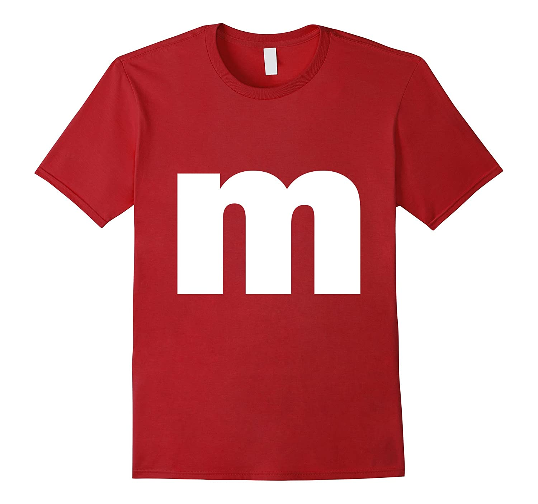 Letter M lower case alphabet spell words Initial tee shirt-T-Shirt