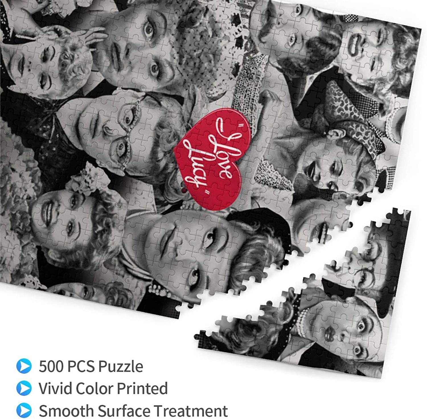 I Cute Love Cool Lu-cy Puzzles Personalized Picture Puzzle For Adults Teens Boys Girls,White,500pcs