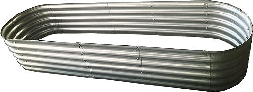 Bancal Gabiona de chapa metálica, de 210 x 54 x 40 cm, elevado, de ...