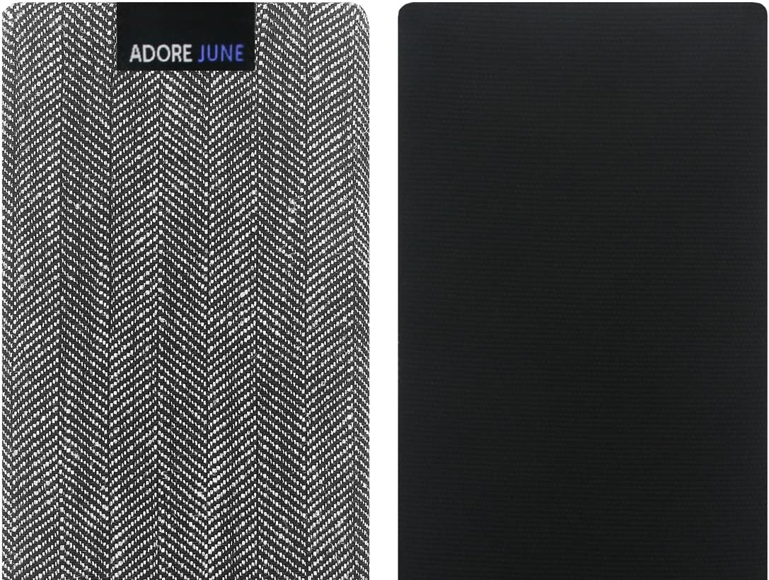 Grey//Black Adore June Business Pouch compatible with Samsung Galaxy S20 Characteristic Material Fabric Sleeve with Display Cleaning Effect