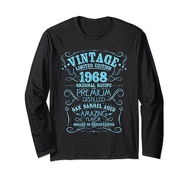 1968 Annata Compleanno Manica Lunga T-shirt Kr2pvWH